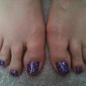 rockstar toes in purple
