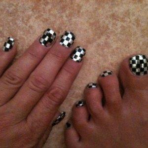 black silver checkers minx