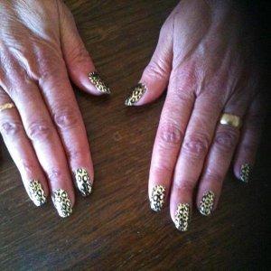 metallic cheetah minx fingers