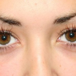 lashes with red face on