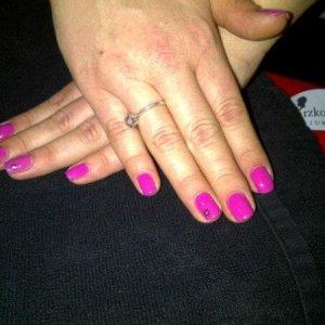 Shellac Hot Pop Pink 1