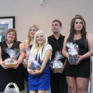 My graduation from beauty school, 2010