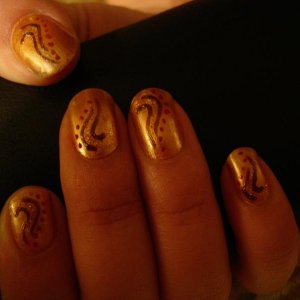 free hand indian swirls