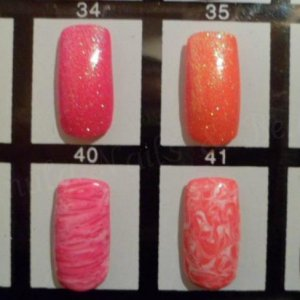 Some colour combos of Gelish Rockstar nails and Gelish marbling!