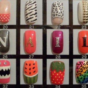 Close up of my nail art board!