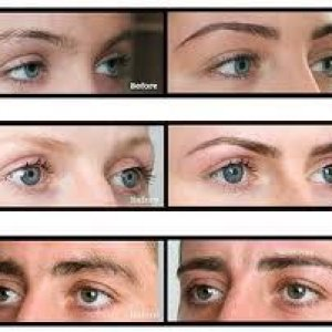HD brows, before and after photo's