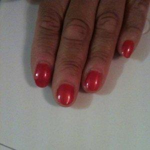 Shellac nails.