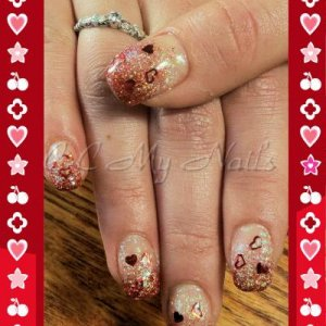 H&NH Renew Pink with Glitter fade & Confetti