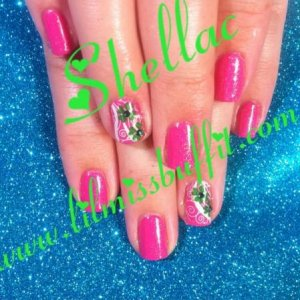 hot pop pink with gold VIP