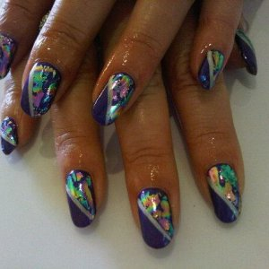 rock royalty with pp over top and oil slick foil