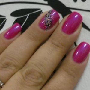 Tutti fruitti with hand painted leopard print and rockstar swoosh