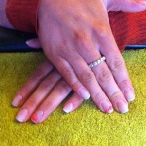 natural tips with gelish.