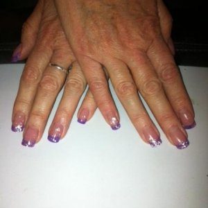 sculptured nails with extended nail bed
