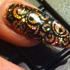 CND Shellac, Sweet Squared Irresitible Glitter and a bit of art..... Bling-it-on xxxx