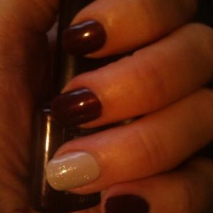 New Shellac colours, Dark Lava & Cityscape with silver VIP on ring finger