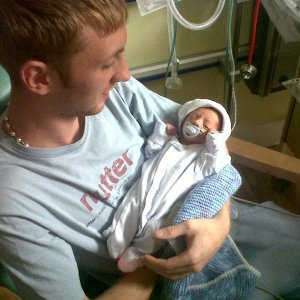 my proud son an his 3lb baby boy,mackenzie-lee (may 2011)