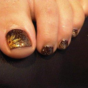 Shellac and glitter