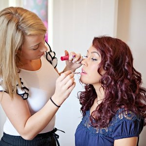 me working on a lovely model for glamour  Hair and make-up by me