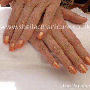 Shellac Shimmer peach
