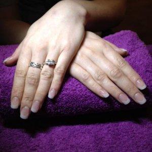 NSI Express Pearl Nail Tips with Sheer Pink Powder