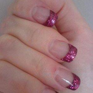 Pink glitter sculptures