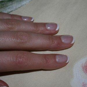 Wedding manicure and french polish