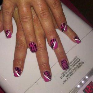 new hot pop zebra design with swar crystals