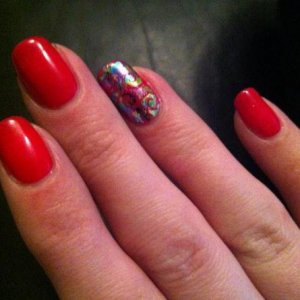 Another pic of the glitzy shellac