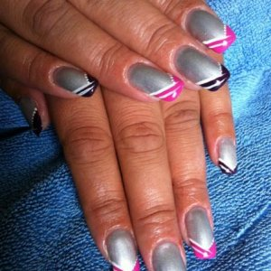 Silver 'v' French with shellac