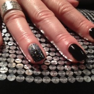Blackpool with holographic silver glitter fade x