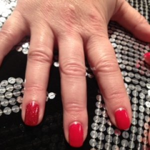 Hollywood With Rockstar red ring finger x