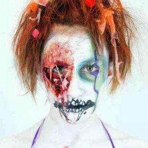 body paint - scary clown