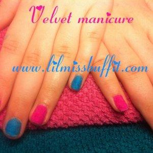 neon velvet manicure.