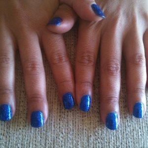 gelish rockstar blue glitter