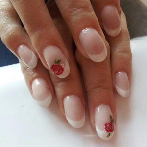 CND L&P with hand painted roses :)