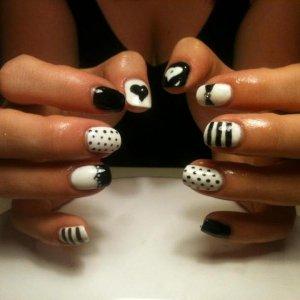 black & white using orly gel fx