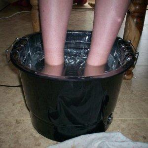 My lovely new footsie bath