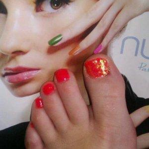 Gelicure with rockstar big toe (Neon)
