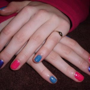 Shellac and Gellax mix for young girl