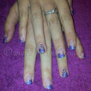 Purple Holographic Glitter and Black Konad