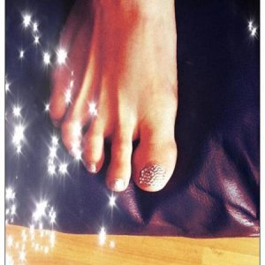Swarovski Crystal Big Toes with OPI Axxium DS Radiance Gel