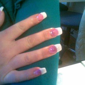 Pink and Purple glitter fade