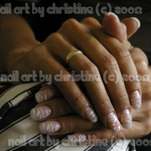 my nails August 3rd (still nno, plus airbrush)
