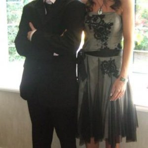 My twins- James and Rachel on prom night- never seen James looking so dapper