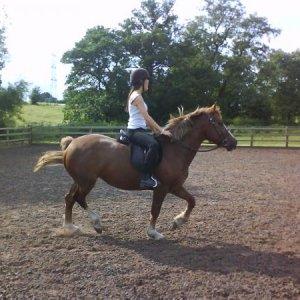 Rachel riding our horse-Miss Dynamite AKA MISSIE. Hence my geek user name