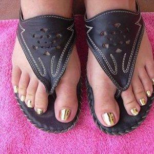 Minx'd toenails, done by Gigi :D