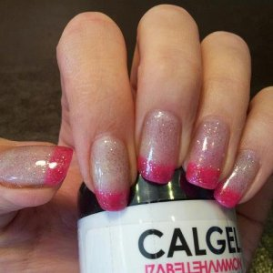 pink french & glitter