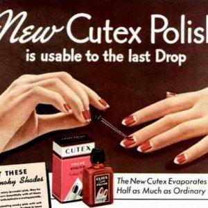 1937 Cutex Advert