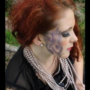Photo shoot, stencil lace make up by me!
