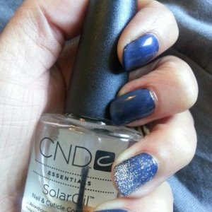 Shellac Blackpool & Negligee with Silver Holographic Glitter from S2